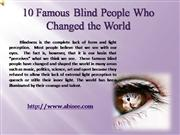 10 Famous Blind People