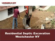 Residential Septic Excavation Westchester NY