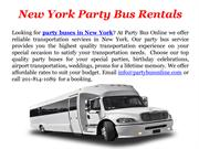 New York Party Bus Rentals - Party Bus Online