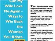Ways to Win Back the Woman You Adore