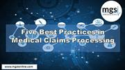 Five Best Practices in Medical Claims Processing