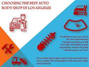 choosing the best auto body shop in los angeles