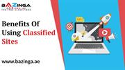 Benefits Of Using Classified Sites | Bazinga.ae