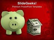 PIGGY BANK INVESTMENT SAVINGS REAL ESTATE POWERPOINT TEMPLATE