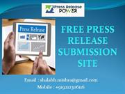 Free Press Release Submission Site