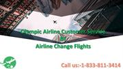 Olympic Airline Customer Service- Airline Change Flights