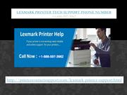 Lexmark Printer Technical Support Phone Number +1-888-597-3962