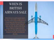 When is British Airways Sale