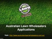 Australian Lawn Wholesalers Applications