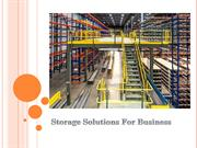 Storage Solutions For Business