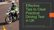 Effective Tips on Practical driving test