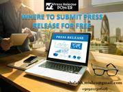 Where To Submit  Press Release For Free