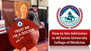 How to Get Admission in All Saints University College of Medicine