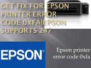Get fix for Epson printer error code 0xfa