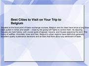 Best Cities to Visit on Your Trip to Belgium
