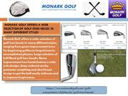 Monark Golf offers a wide selection of golf iron heads