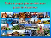 Make a proper plan to visit more places in Nepal tour