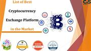 List of Best Cryptocurrency Exchange Platform in The Market