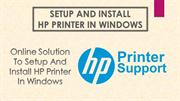 Setup and Install HP Printer in Windows