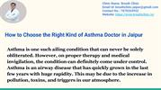 How to Choose the Right Kind of Asthma Doctor in Jaipur