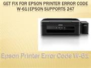 Get fix for Epson printer error code W-61