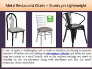 Metal Restaurant Chairs – Sturdy yet Lightweight