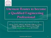 Alternate Routes - Qualified Eng Prof