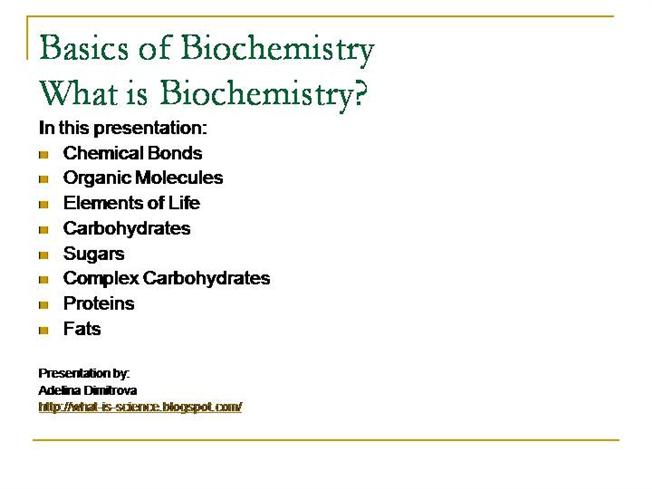 what is biochemistry- science of life |authorstream, Human Body