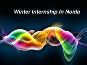 winter internship in noida for job
