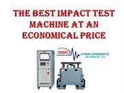 The Best Impact Test Machine at an Economical Price