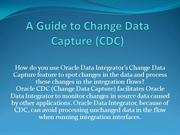 A Guide to Change Data Capture (CDC