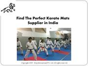 Find the perfect Karate Mats Supplier in India
