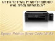 Get fix for Epson printer error code W-61|Epson Supports 247