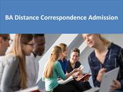 BA Distance Correspondence Admission |Fees Structures
