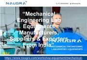 Mechanical Engineering Lab Equipments Suppliers