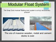 Modular Float Systems
