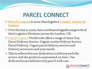 Courier service in East London