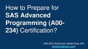 SAS Advanced Programming (A00-234) Certification - Sample Questions