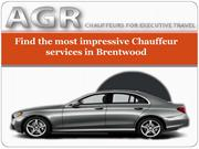 Find the most impressive Chauffeur services in Brentwood