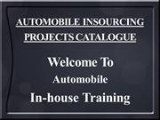Automobile In-house Training