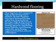 Types of Flooring for Homes