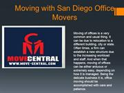 Moving with San Diego Office Movers