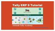 Tally ERP9 Video Tutorials online by Attitude Tally Academy in Yamuna