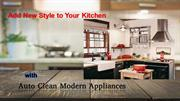 Add New Style to Your Kitchen with Auto Clean Modern Appliances