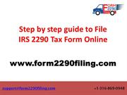2290 Tax Form Online | Form 2290 online Filing for 2019-2020 tax year