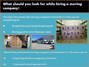 What should you look for while hiring a moving company