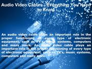 Audio Video Cables - Everything You Need to Know