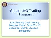 LNG Trading  Master class in Singapore