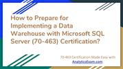 Microsoft 70-463 Certification | Sample Questions & Answers