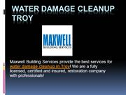 Water Damage Cleanup Troy